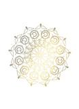 Gold Foil Mandala III Reproduction d'art par Chariklia Zarris