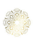 Gold Foil Mandala IV
