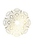 Gold Foil Mandala IV Reproduction d'art par Chariklia Zarris