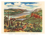 Columbia River Gorge  Pacific Northwest - United Air Lines Calendar Page