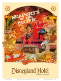 Seaports of the Pacific - Disneyland Hotel - Anaheim, California Reproduction d'art par Lotts