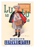 Lu Biscuits - The Little Student (Le Petit Ecolier) - Lefèvre-Utile (LU) Reproduction d'art par Fermin Bouisset