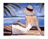 Côte d'Azur Reproduction d'art par Trish Biddle