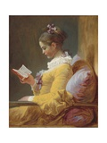 Young Girl Reading  C 1770