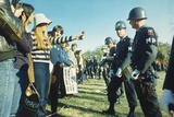 Female Demonstrator Offers a Flower to Military Police During the 1967 March on the Pentagon