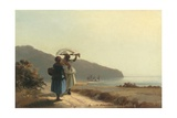 Two Women Chatting by the Sea  St Thomas  1856
