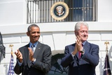 President Barack Obama and Former Pres Bill Clinton on the 20th Anniversary of the Americorps