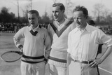 Tennis Champions Vincent Richards  Bill Tilden  and Bill Johnston in the 1920s