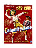 Calamity Jane  Doris Day  Howard Keel  (Belgian Poster Art)  1953