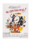 Help!  (AKA Au Secours!)  French Poster Art  Top: Ringo Starr  Paul Mccartney; Bottom