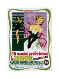 Gentlemen Prefer Blondes (aka Gli Uomini Preferiscono Le Bionde)  Italian Poster Art  1953