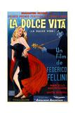 La Dolce Vita  Anita Ekberg  Argentinian Poster Art  1960
