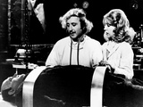 Young Frankenstein  from Left  Peter Boyle  Gene Wilder  Teri Garr  1974