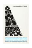 Grand Prix  Poster Art by Saul Bass  1966