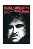 The Godfather (AKA Ojciec Chrzestny)  Marlon Brando on Polish Poster Art  1972