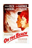 On the Beach  from Left: Gregory Peck  Ava Gardner  on French Poster Art  1959