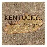 Story Kentucky Reproduction d'art par Tina Carlson