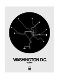 Washington DC Black Subway Map