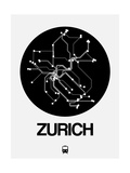 Zurich Black Subway Map