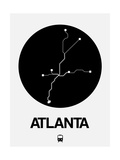 Atlanta Black Subway Map