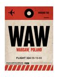 WAW Warsaw Luggage Tag I