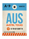 AUS Austin Luggage Tag I