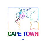 Cape Town Watercolor Street Map