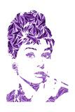 Hepburn, Audrey Tableau sur toile par Cristian Mielu