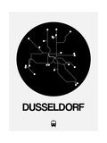 Dusseldorf Black Subway Map