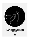 San Francisco Black Subway Map