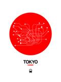 Tokyo Red Subway Map