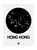 Hong Kong Black Subway Map