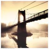 Footbridge In The Setting Sun