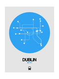 Dublin Blue Subway Map