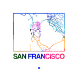 San Francisco Watercolor Street Map