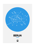Berlin Blue Subway Map