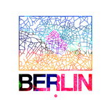 Berlin Watercolor Street Map