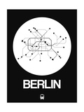 Berlin White Subway Map