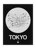 Tokyo White Subway Map