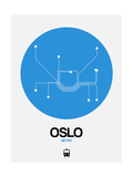 Oslo Blue Subway Map