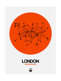 London Orange Subway Map