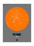 Rome Orange Subway Map