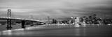 Bridge Lit Up at Dusk  Bay Bridge  San Francisco Bay  San Francisco  California  USA