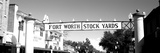 Signboard over a Street  Fort Worth Stockyards  Fort Worth  Texas  USA