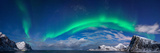 Aurora Borealis Above Flaget Bay  Lofoten  Nordland  Norway