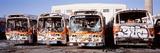 Graffiti Buses at Junkyard  San Francisco  California  USA