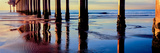 Pier on Beach at Sunset  La Jolla  San Diego  California  USA