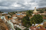 An Elevated View of the Terracotta Roofs and the Bell Tower of the Museo Nacional De La Lucha