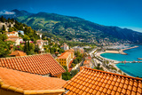 City View of Medieval Menton  Alpes-Maritimes  Cote D'Azur  Provence  French Riviera