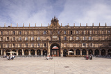 Plaza Mayor in Salamanca  UNESCO World Heritage Site  Castile and Leon  Spain  Europe
